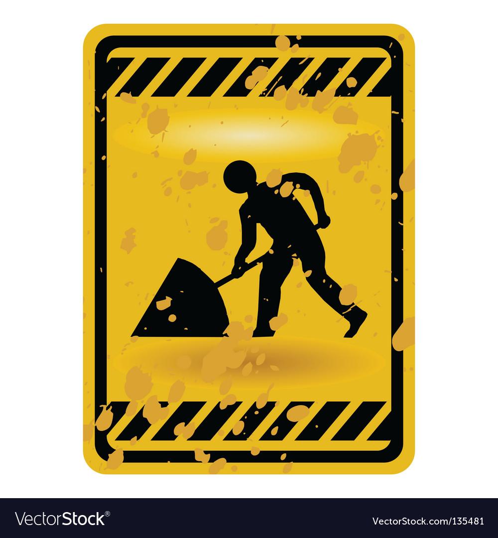 Men at work sign vector | Price: 1 Credit (USD $1)