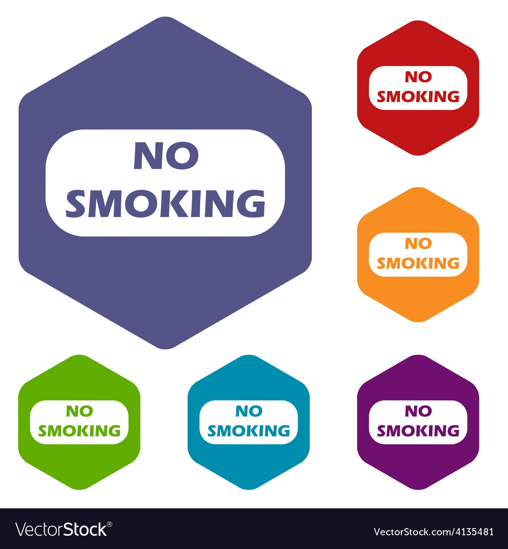 No smoking rhombus icons vector | Price: 1 Credit (USD $1)