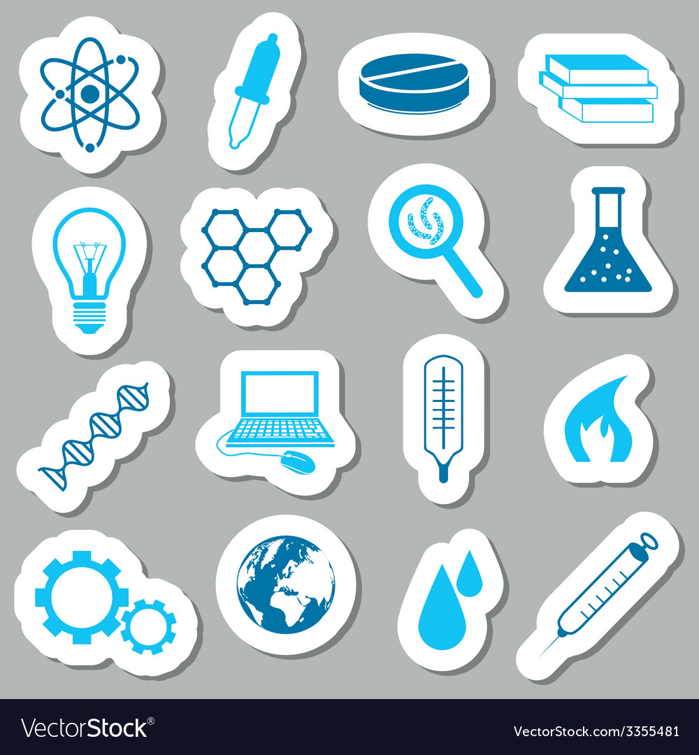 Science stickers vector | Price: 1 Credit (USD $1)