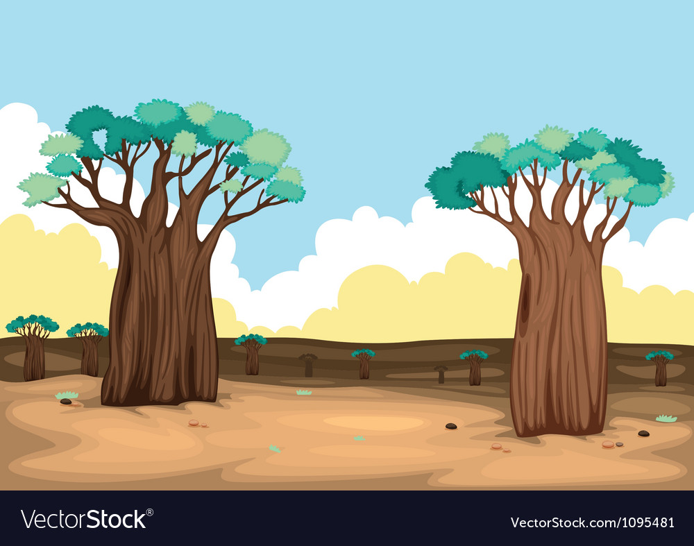 Two trees vector   Price: 1 Credit (USD $1)