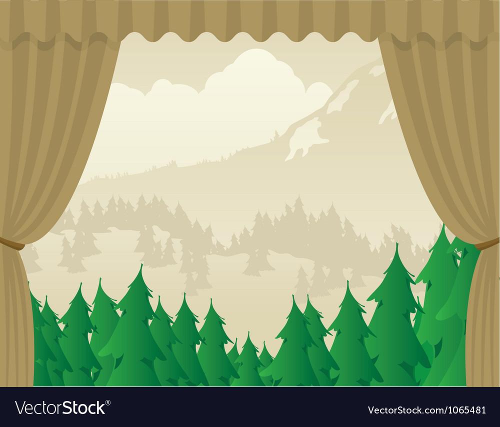 Wilderness scene stagejpg vector | Price: 1 Credit (USD $1)