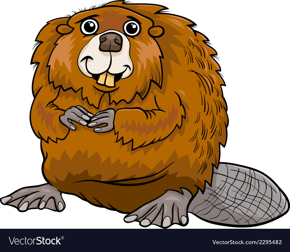 Beaver animal cartoon vector | Price: 1 Credit (USD $1)