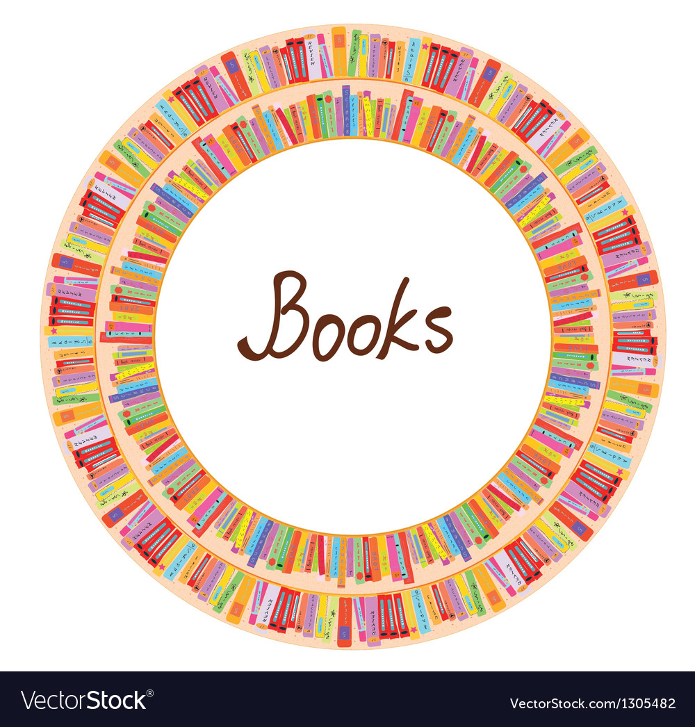 Book frame circle design vector | Price: 1 Credit (USD $1)