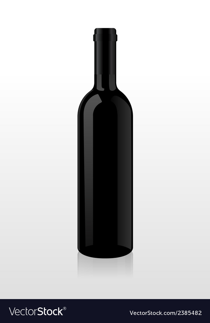 Bottle of wine blank vector | Price: 1 Credit (USD $1)