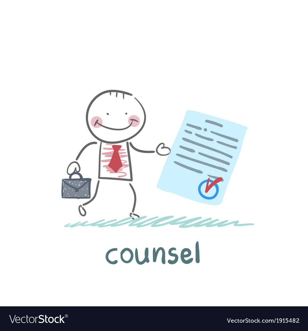Counsel shows the document vector | Price: 1 Credit (USD $1)