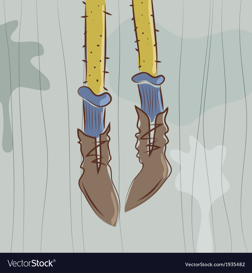 Dangling feet vector | Price: 1 Credit (USD $1)