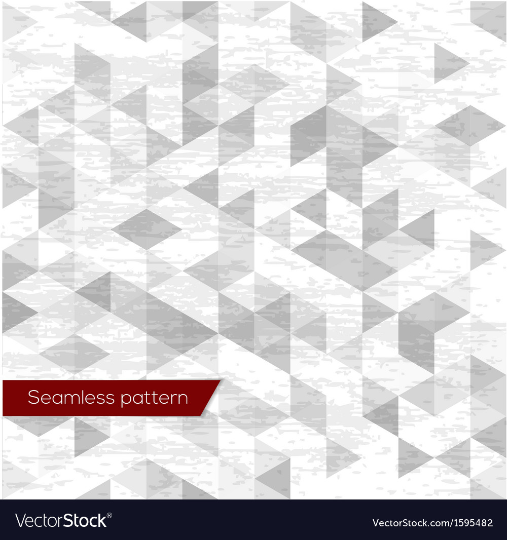 Diamonds seamless triangle abstract pattern vector | Price: 1 Credit (USD $1)