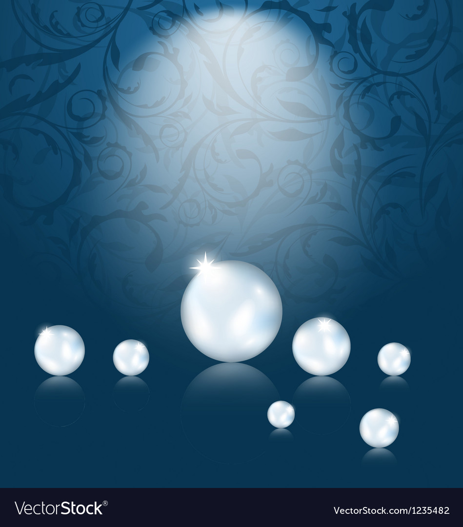 Luxury dark background with pearl reflect vector | Price: 1 Credit (USD $1)