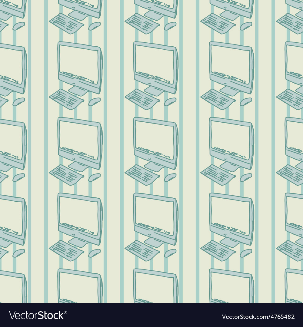 Personal computer background seamless pattern vector | Price: 1 Credit (USD $1)