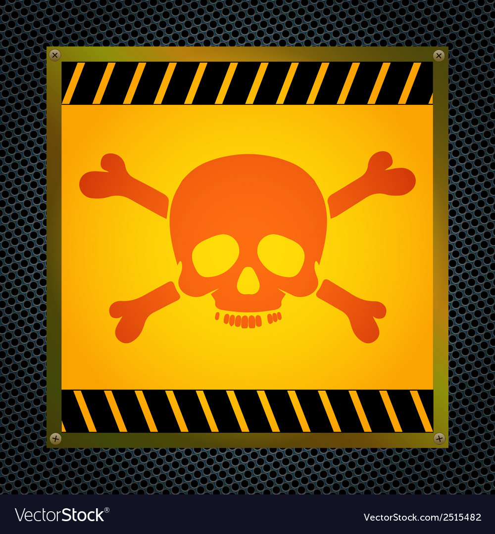 Sign of the mortal danger vector | Price: 1 Credit (USD $1)