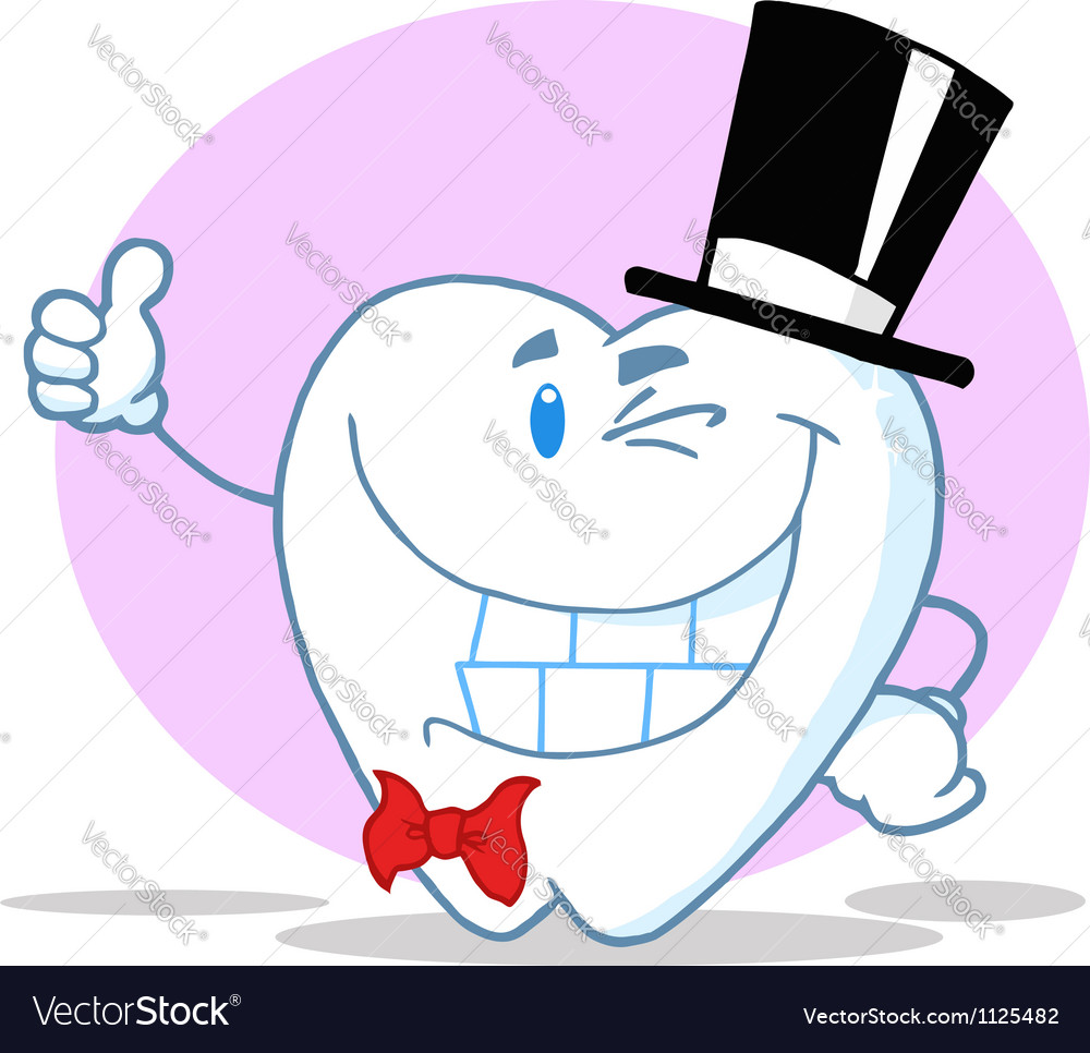 Smiling winking gentleman tooth vector | Price: 1 Credit (USD $1)