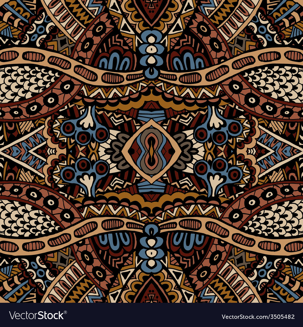 Tribal seamless pattern ornamental vector | Price: 1 Credit (USD $1)