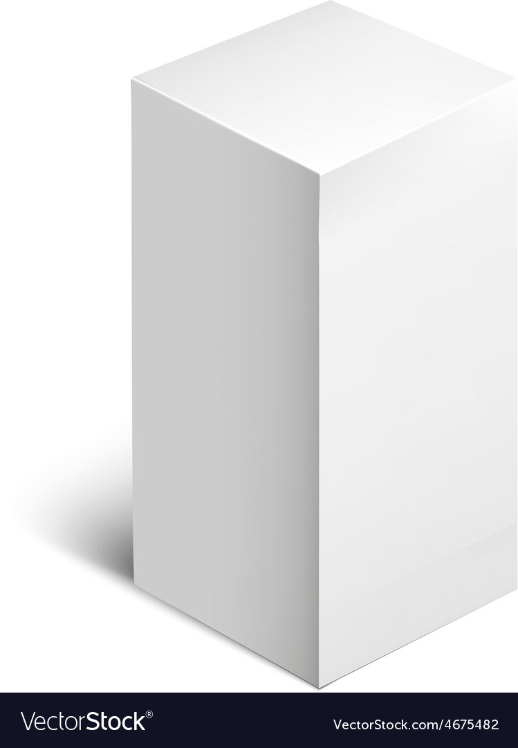 White package square cardboard package box vector   Price: 1 Credit (USD $1)