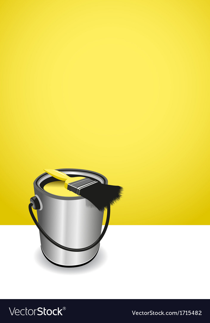 Yellow paint pot background vector | Price: 1 Credit (USD $1)