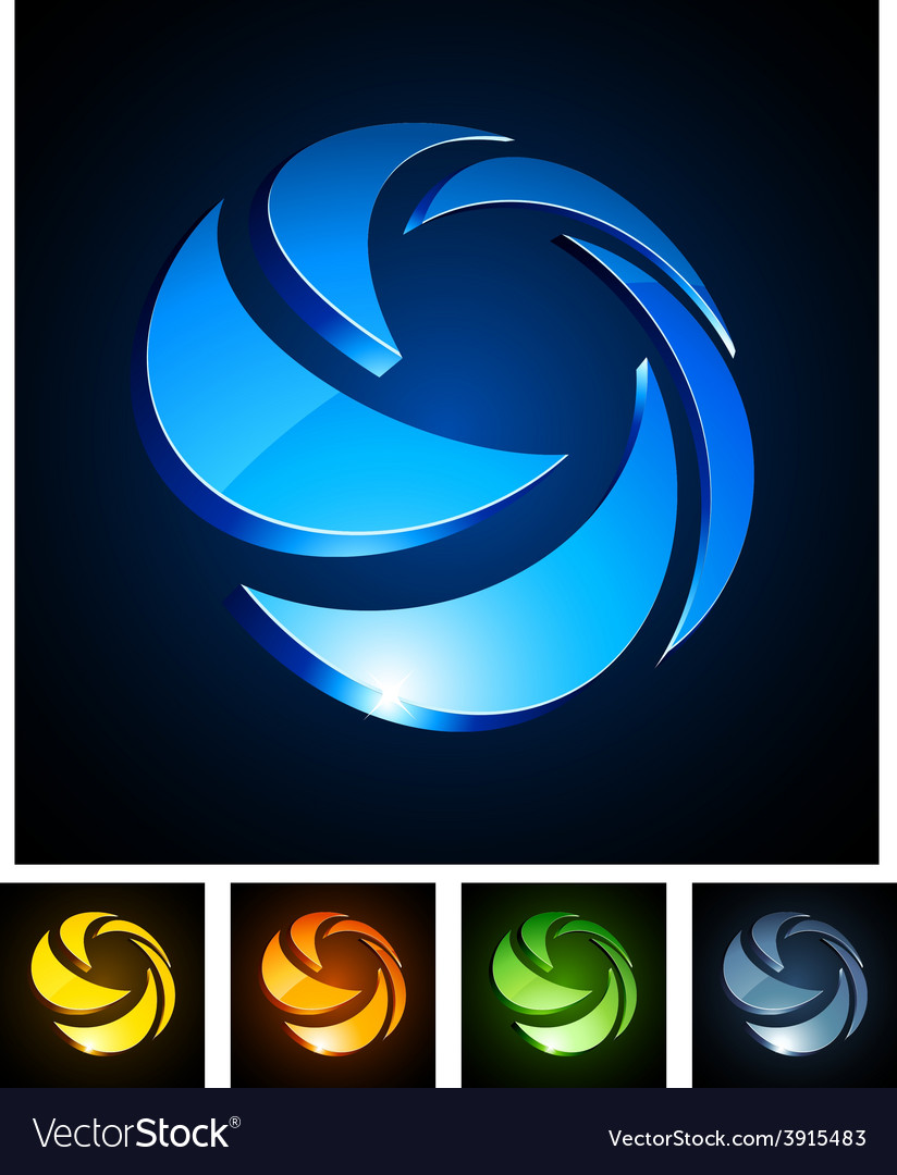 3d rotate emblems vector | Price: 1 Credit (USD $1)