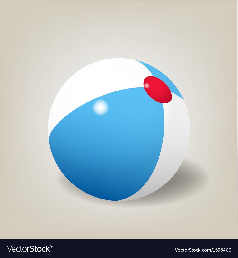Beach ball vector   Price: 1 Credit (USD $1)