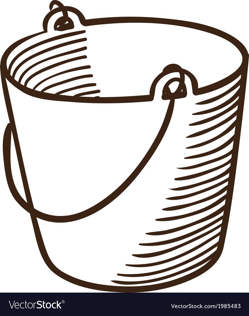 Bucket symbol vector | Price: 1 Credit (USD $1)