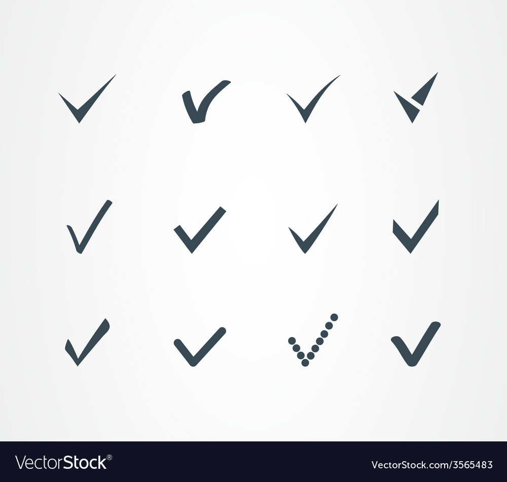 Check mark icons set vector | Price: 1 Credit (USD $1)