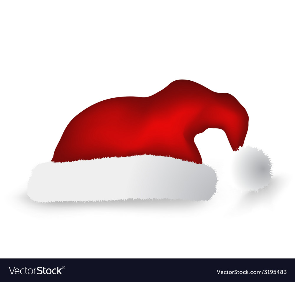 Christmas cap isolated over white background vector | Price: 1 Credit (USD $1)