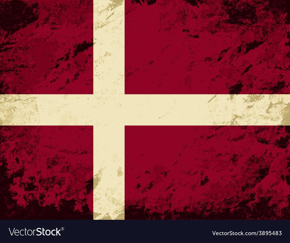 Danish flag grunge background vector   Price: 1 Credit (USD $1)