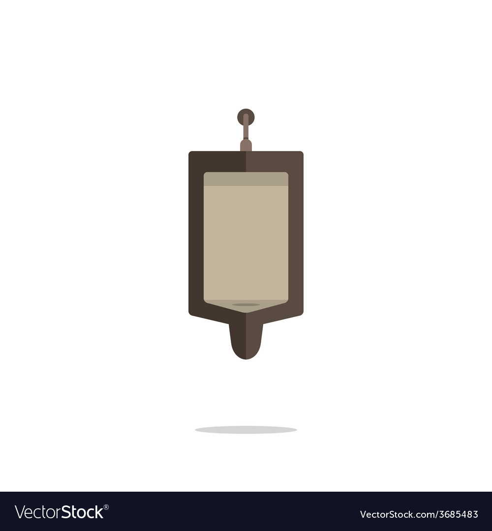Flat design single mens urinal vector | Price: 1 Credit (USD $1)