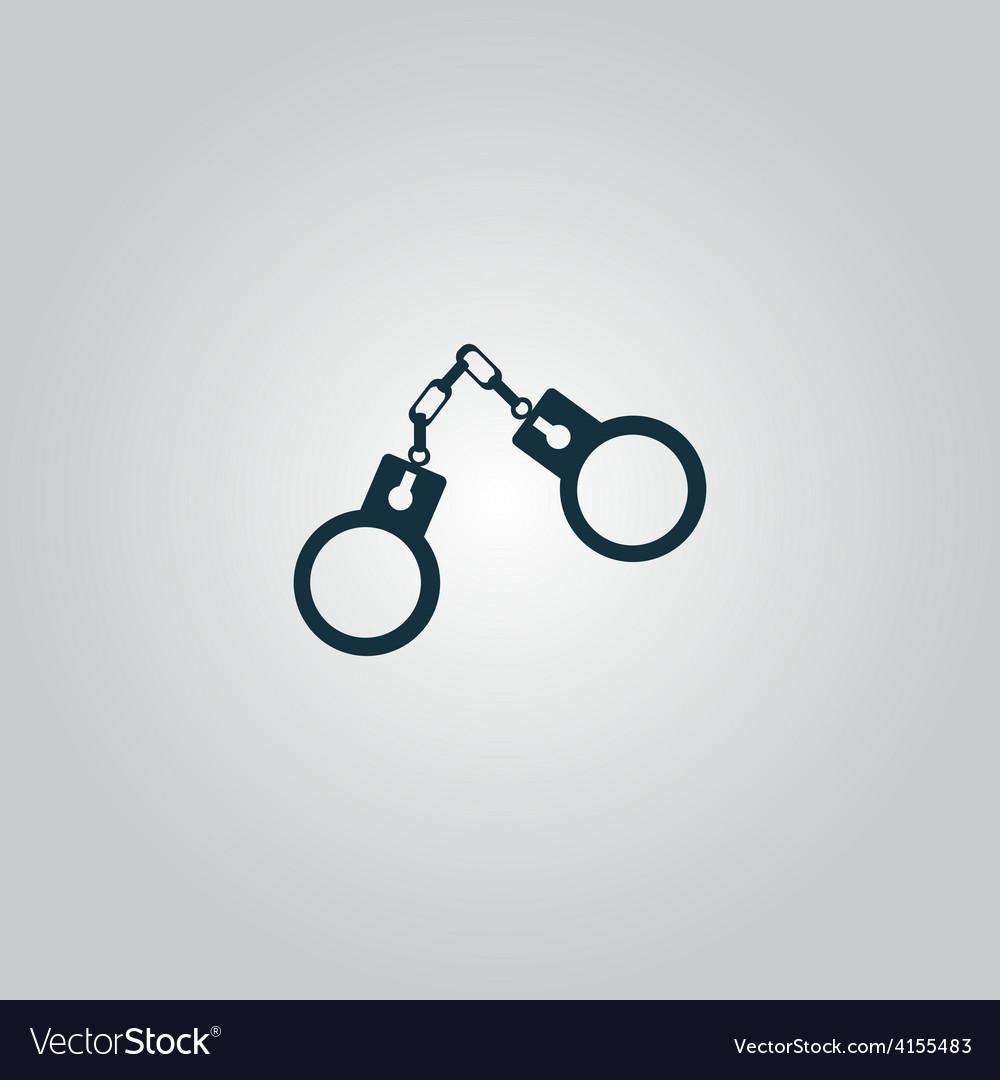 Handcuffs icon vector   Price: 1 Credit (USD $1)