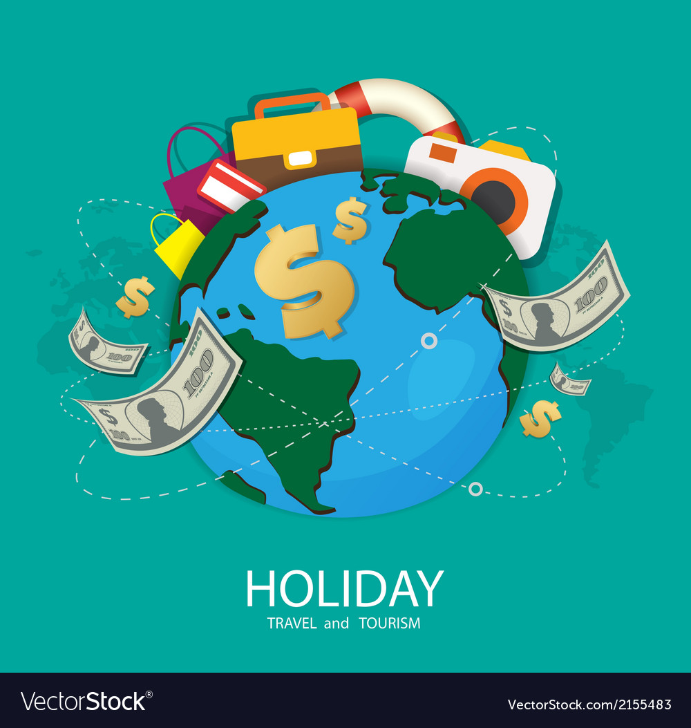 Holiday travel and tourism vector | Price: 1 Credit (USD $1)