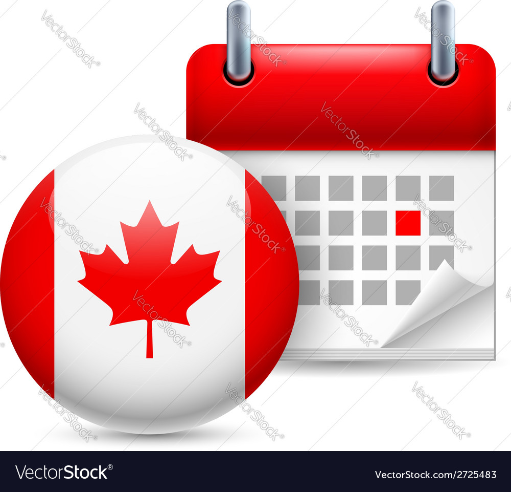 Icon of national day in canada vector | Price: 1 Credit (USD $1)