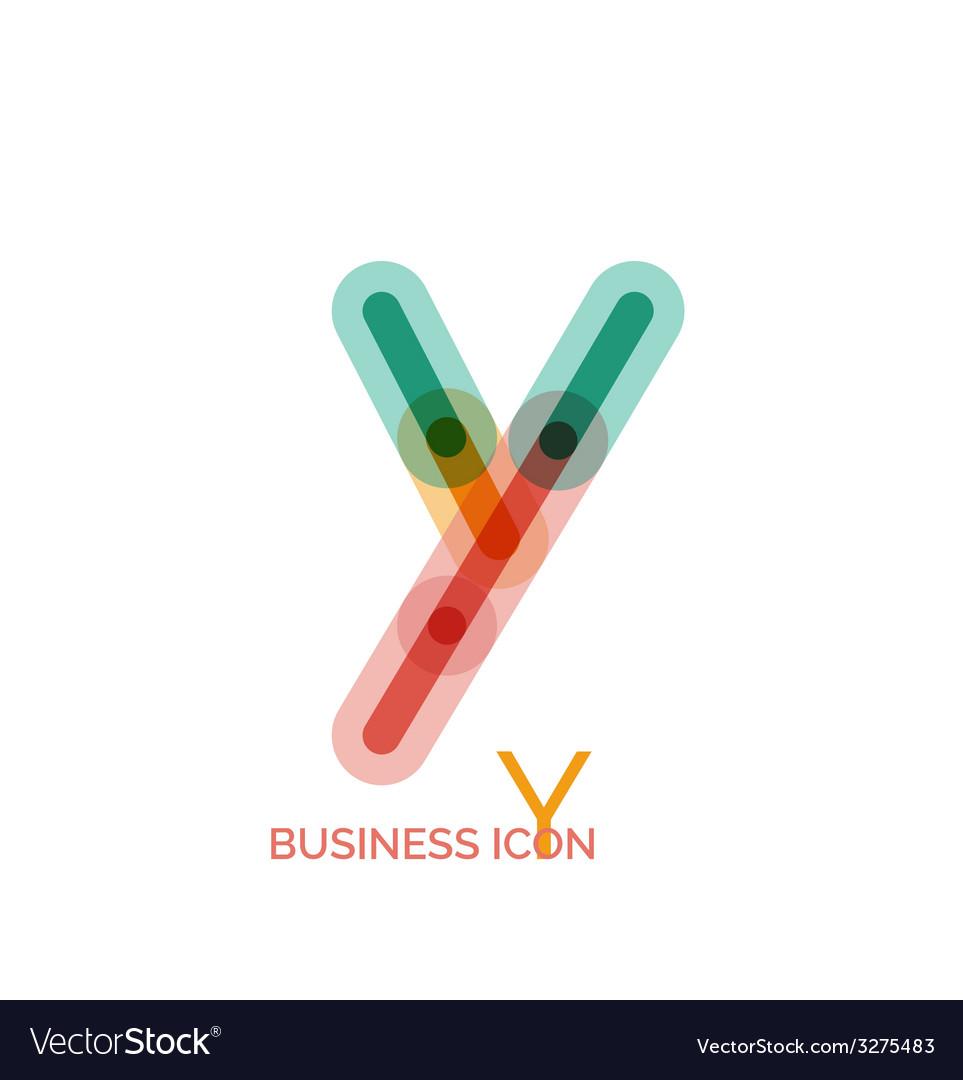 Minimal line font design letter y vector | Price: 1 Credit (USD $1)