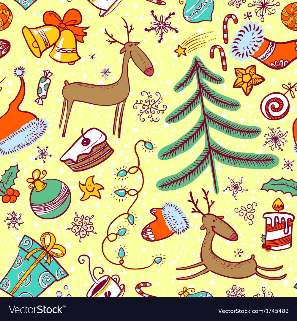 Pattern with deers vector | Price: 1 Credit (USD $1)