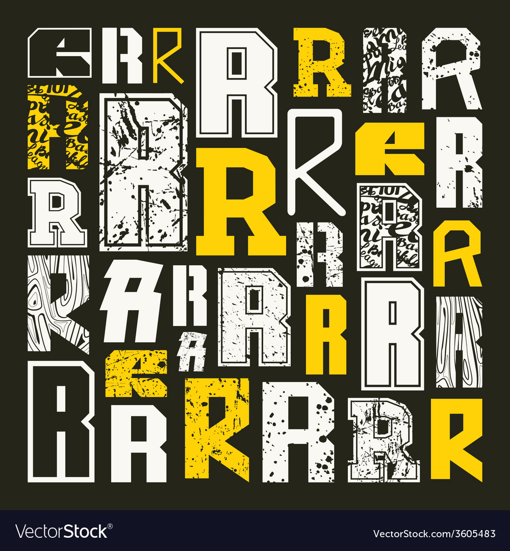 Set versions of letters r vector | Price: 1 Credit (USD $1)