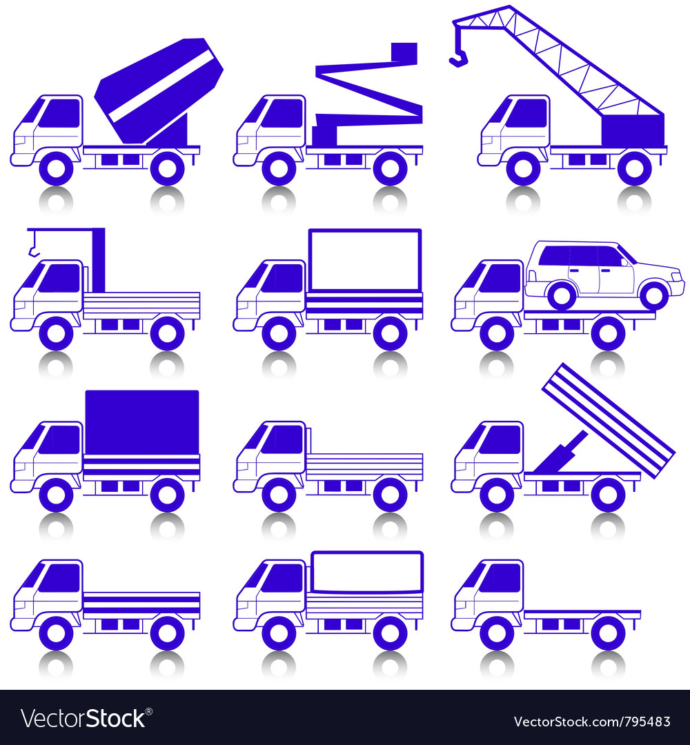 Transportation symbols vector | Price: 1 Credit (USD $1)
