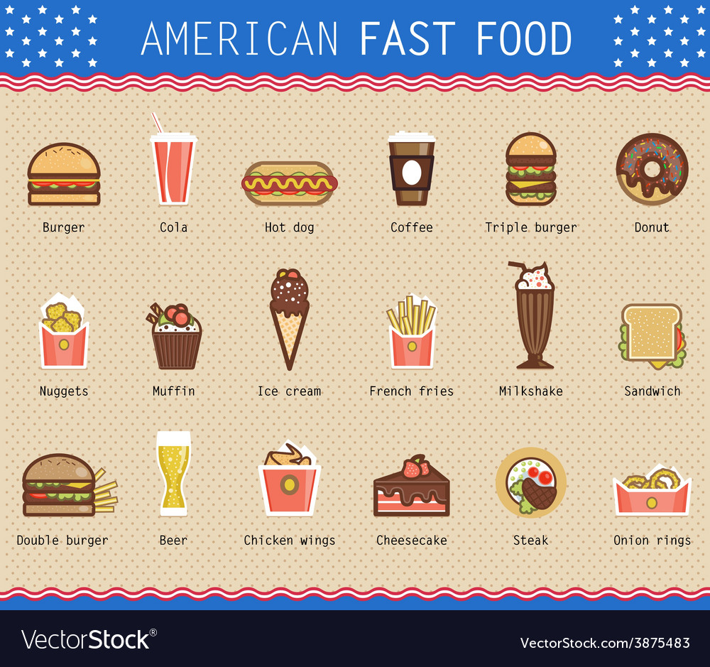 Various unhealthy american vector | Price: 1 Credit (USD $1)