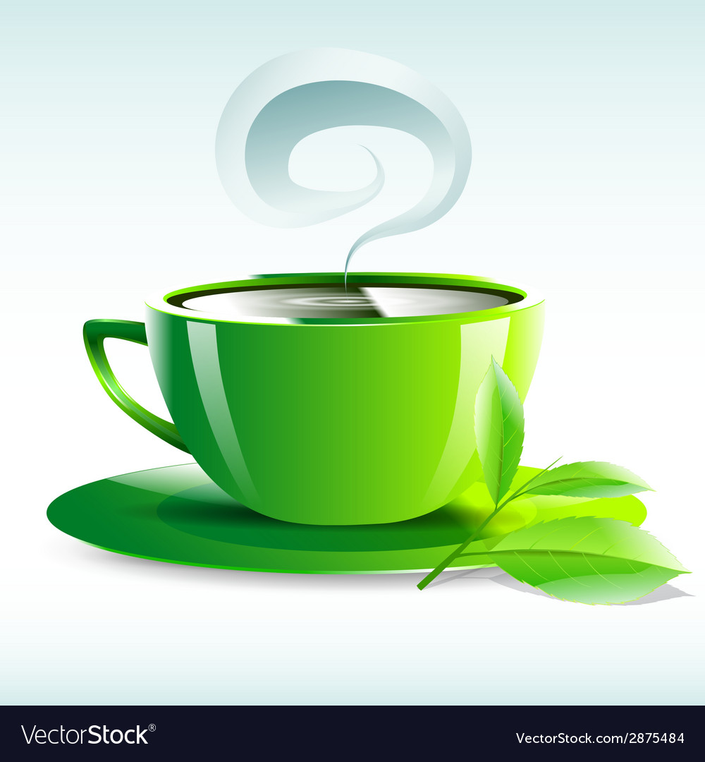 A yellow cup of hot tea grain pairs vector | Price: 1 Credit (USD $1)