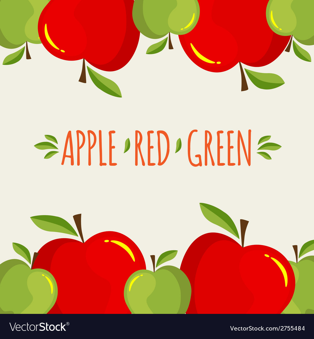 Apple background vector | Price: 1 Credit (USD $1)