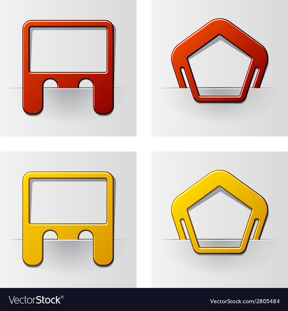 Attached frames - pentagon and rectangle vector | Price: 1 Credit (USD $1)