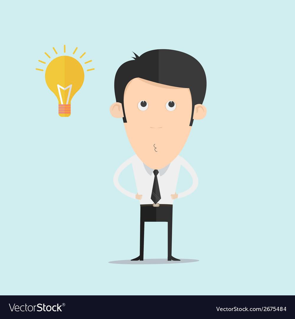 Cartoon with light bulb flat design vector | Price: 1 Credit (USD $1)