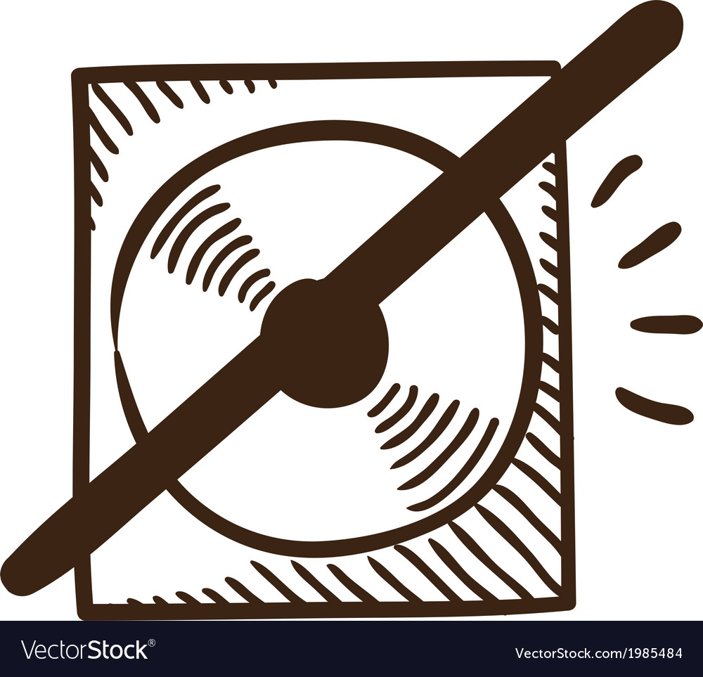 Cd or dvd crossed symbol vector | Price: 1 Credit (USD $1)