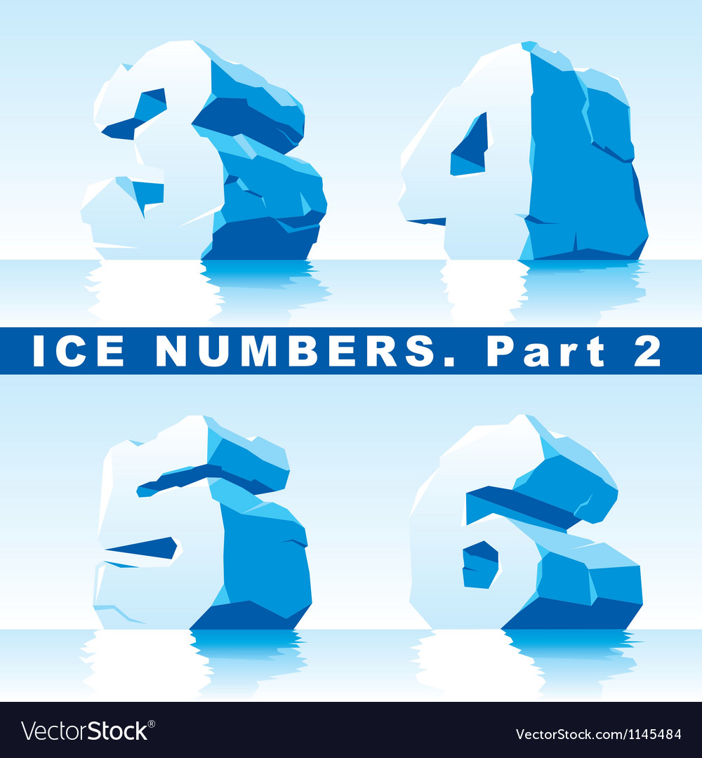 Ice numbers part 2 vector | Price: 1 Credit (USD $1)