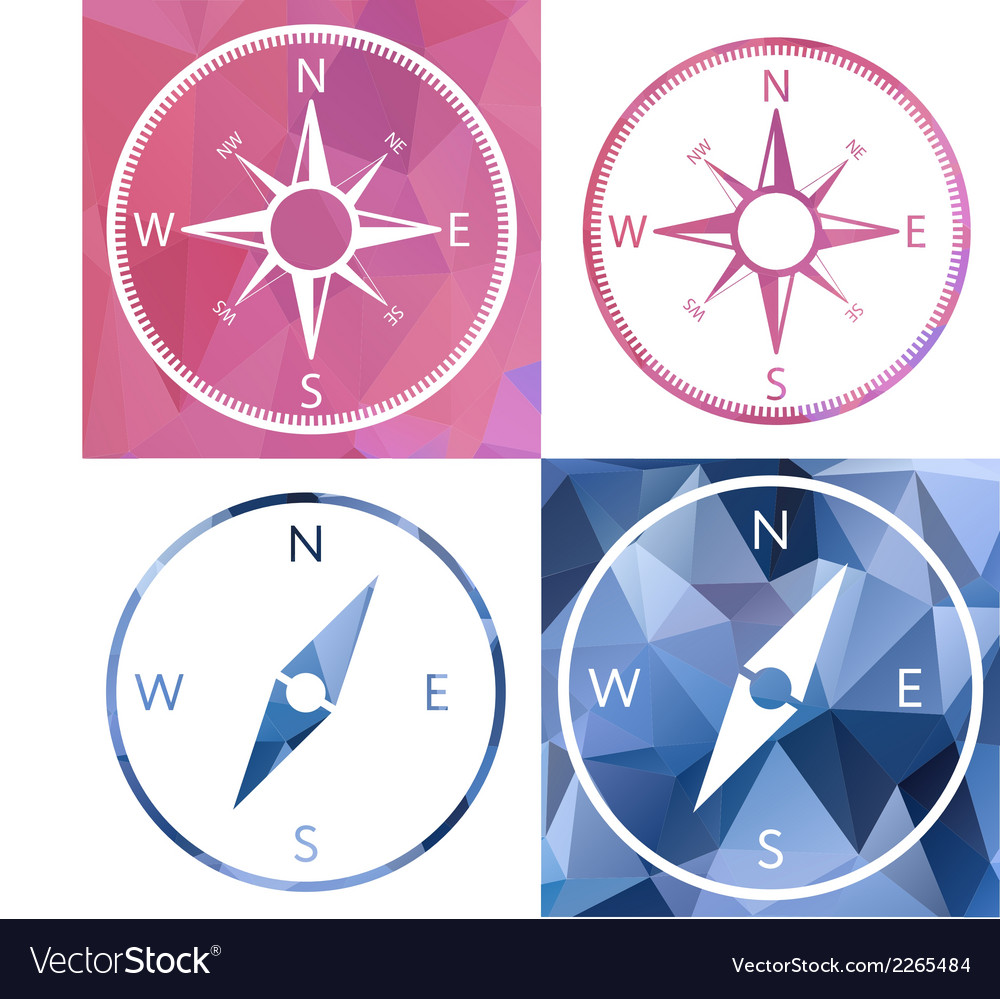 Icon in crystal style compass vector | Price: 1 Credit (USD $1)