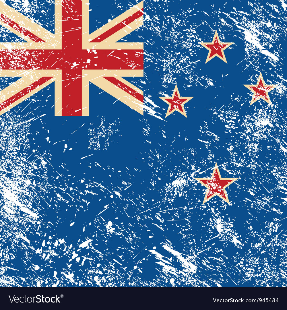 New zealand retro flag vector | Price: 1 Credit (USD $1)