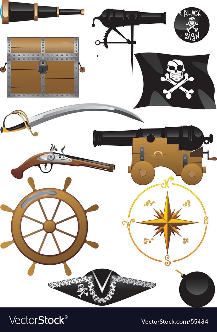 Pirate set vector   Price: 1 Credit (USD $1)