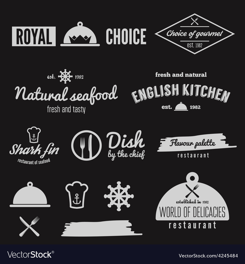 Set of logo badge emblem and logotype elements vector | Price: 1 Credit (USD $1)