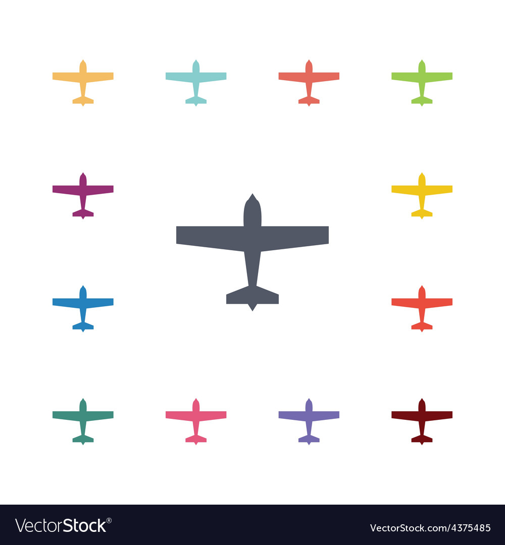 Airplane flat icons set vector | Price: 1 Credit (USD $1)