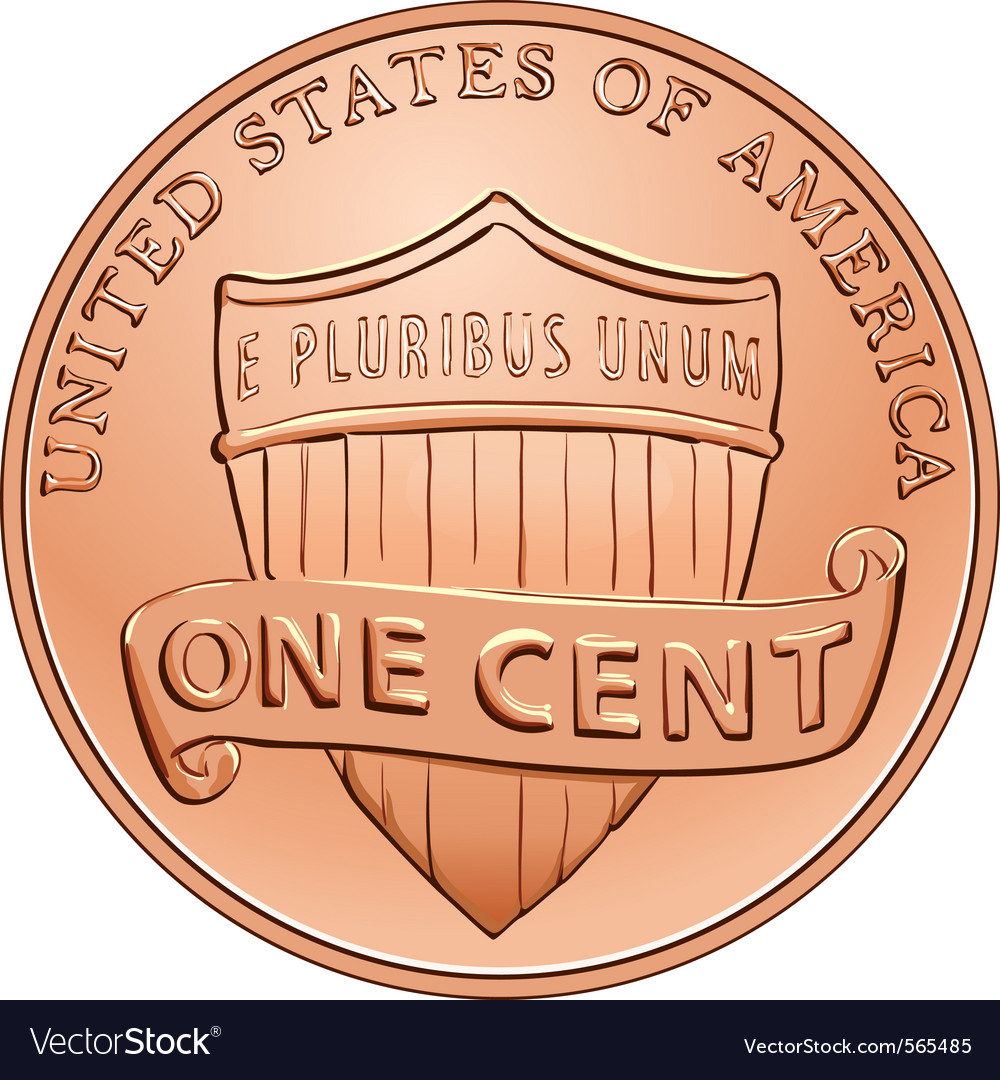 American one cent coin vector | Price: 1 Credit (USD $1)