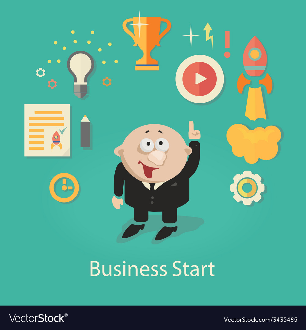 Business startup  infographics with vector   Price: 1 Credit (USD $1)