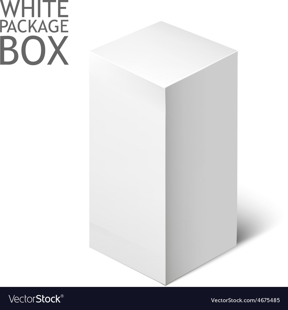 Cardboard package box white package square vector | Price: 1 Credit (USD $1)