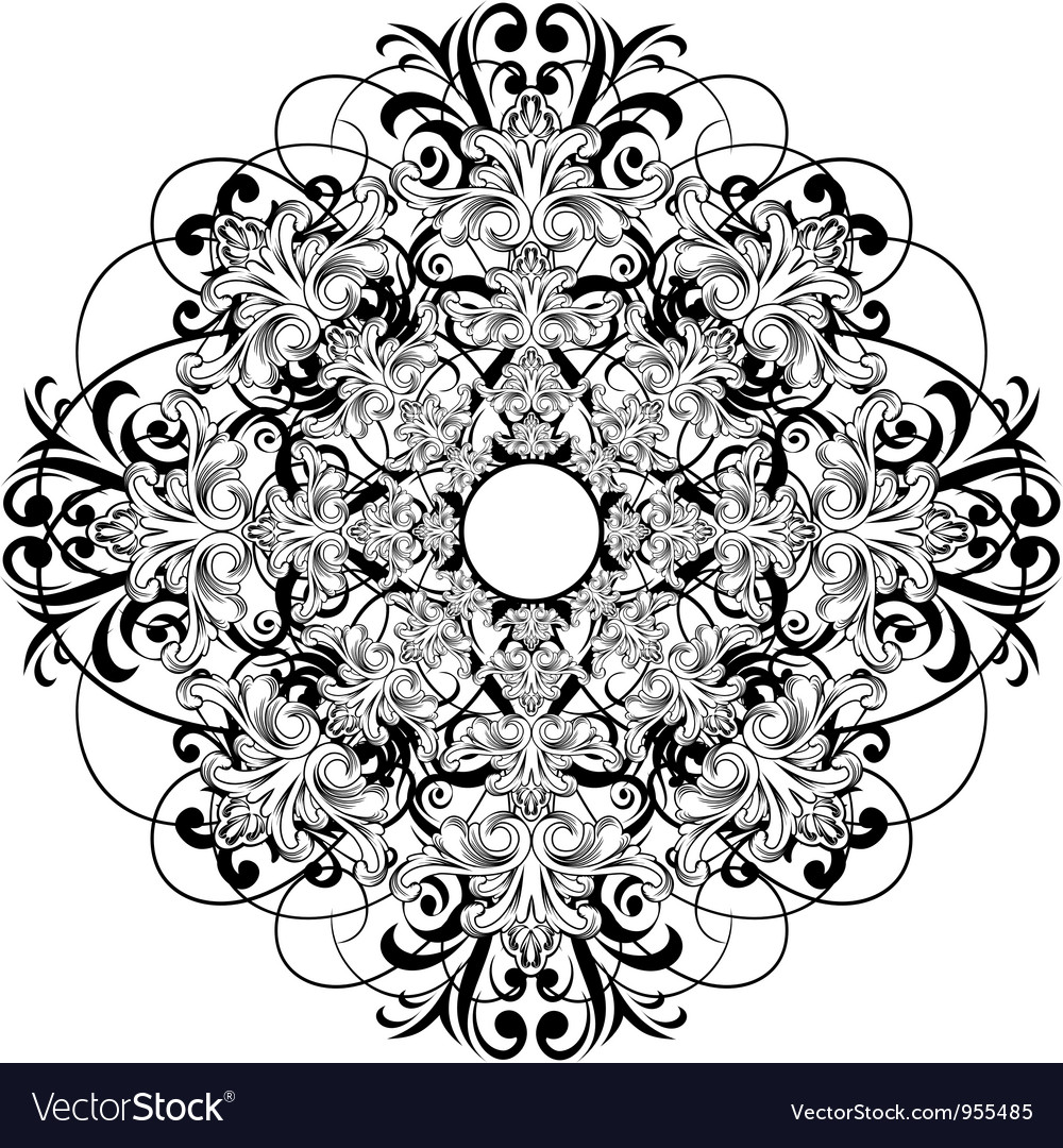 Ceiling rose vector | Price: 1 Credit (USD $1)
