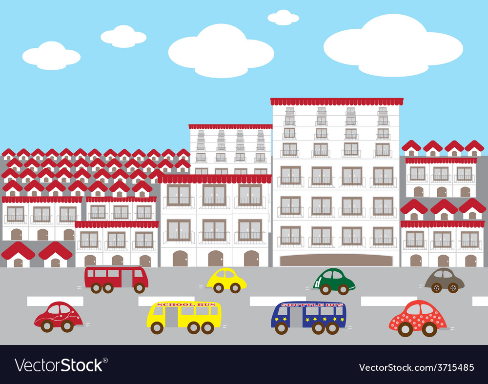 Citytown landscape1 01 vector | Price: 1 Credit (USD $1)