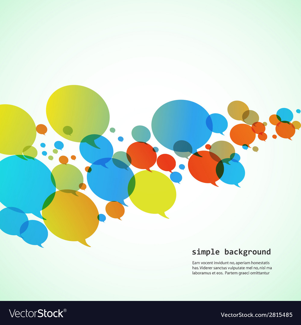 Creative background of colorful speech bubbles eps vector | Price: 1 Credit (USD $1)